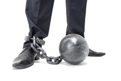 Chained Feet. Royalty Free Stock Photos
