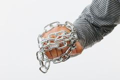Chained fist Royalty Free Stock Photos
