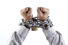 Chained fists Stock Photos
