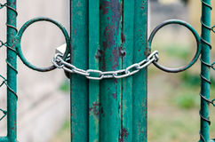 Chained Gate Royalty Free Stock Photo