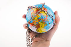 Chained globe Royalty Free Stock Photos