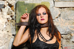 Free Chained Goth Girl Royalty Free Stock Photos - 6355398