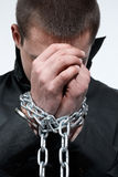 Chained hands Royalty Free Stock Photos