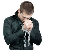 Chained hands Stock Images