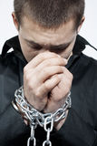 Chained hands Stock Photography