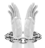 Chained hands Stock Image