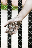 Chained Hands. Royalty Free Stock Photos