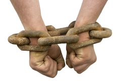 Chained hands Stock Photos