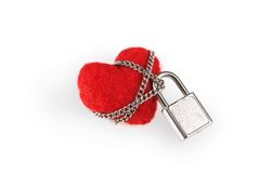 Chained heart Stock Photo