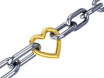 Chained heart Royalty Free Stock Images