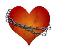 Chained heart Stock Photography