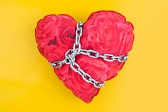 Chained heart Royalty Free Stock Image