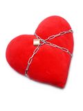 Chained heart Royalty Free Stock Photos