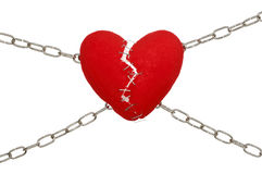Chained heart Stock Image