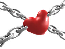 Chained heart illustration Royalty Free Stock Images