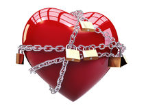 Chained heart Stock Images