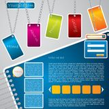 Chained labels website template Stock Photography