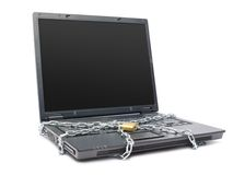 Chained laptop Royalty Free Stock Photo
