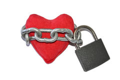 Chained and locked heart Royalty Free Stock Images