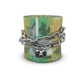 Chained money roll Australian dollars Stock Photo