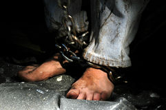 Chained person. Stock Image