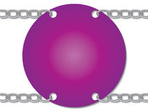 Chained pink card Stock Photography