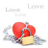 Chained red heart Royalty Free Stock Images