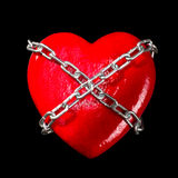 Chained red heart Royalty Free Stock Image