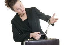 Chained to her work Stock Photo