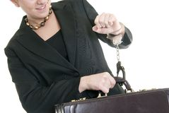 Chained to her work Royalty Free Stock Images