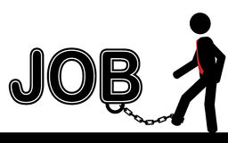 Chained to JOB Stock Images