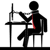 Chained to office Royalty Free Stock Image