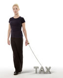 Chained to taxs Stock Photography