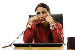 Chained to work Royalty Free Stock Image