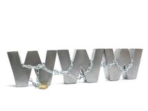Chained WWW Royalty Free Stock Image