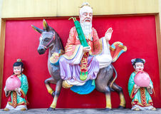 Chaines priests. Chinese Buddhist priest statue sitting horse royalty free stock photo