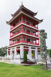 Chainese Building. Landmark at Suphanburi Thailand Stock Image