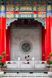chainese dekorera tempelet Arkivfoton