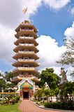 Chainese temple tower. With beautiful sky background Stock Photos