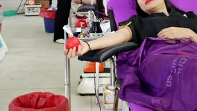 CHAING RAI- 31 ΙΟΥΛΊΟΥ: Μη αναγνωρισμένοι χορηγοί αίματος στο rai Chaing σχετικά με απόθεμα βίντεο