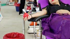 CHAING RAI- 31 DE JULHO: Doadores de sangue não identificados no rai de Chaing com referência a vídeos de arquivo