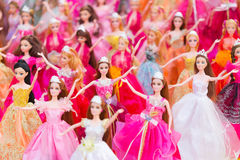 CHAINGRAI - MARCH 4 : Dolls are shown for sale at open market z royalty free stock images