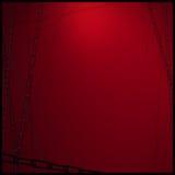 Chainl on dark red background. Chain stainless steel on dark red background Royalty Free Stock Photography