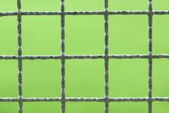 Chainlink. Closeup of chainlink with nature background Stock Photo