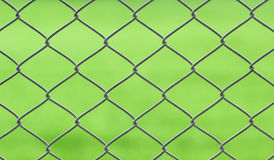Chainlink. Closeup of chainlink with nature background Stock Photos