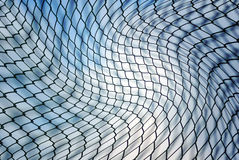 Chainlink fence. Abstract metal chainlink fence background Stock Photos