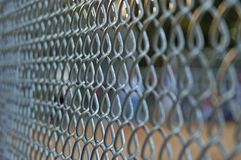 Chainlink Fence. Side view of a chainlink fence at a baseball game Stock Images