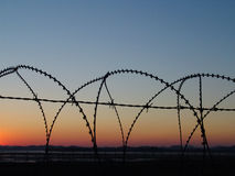 Chainlink Fence. Barbed Wire Stock Images