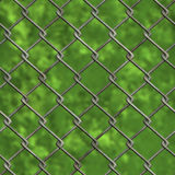 Chainlink fence and forest (Seamless texture) Stock Images
