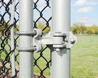 Chainlink fence hardware Stock Image